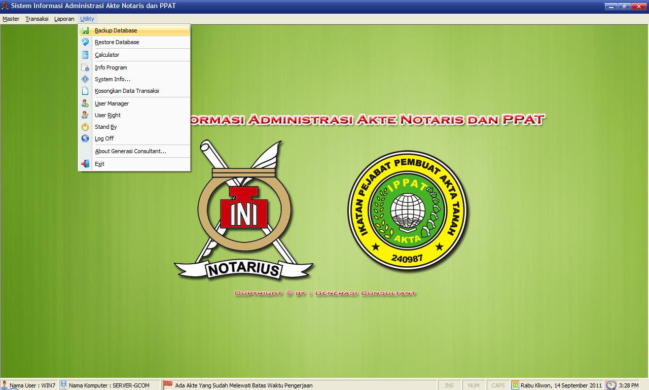 Detail Program Aplikasi Administrasi Notaris Dan Ppat Rumah Coding Dan Kursus Online Visual Basic Jasa Pembuatan Program Aplikasi Dan Belajar Visual Basic Di Medan Sumatera Utara Jual Source Code